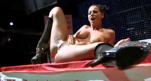 masturbating on stage