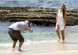 Indiana Evans | Candids on a Photoshoot at Shark Beach in Sydney | February 8 | 14 pics