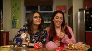 Victoria Justice and Ariana Grande in their pajamas (x2)